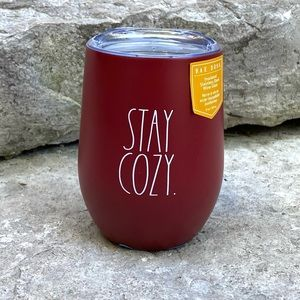 Rae Dunn STAY COZY Insulated Wine Glass